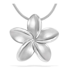 🌸 NIB Na Hoku Sterling Silver Plumeria necklace